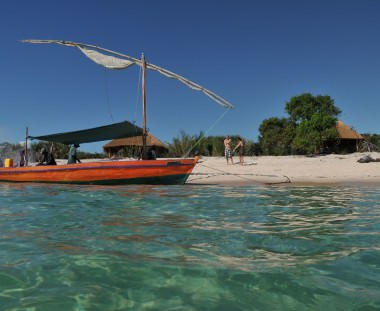 eiland Dhow tijdens Mozambique Kruger Beach en Bush tour via Scenic Travel - Zoetermeer