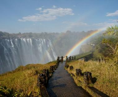 Victoria Falls bezoek tijdens Desert en Delta tour via Scenic Travel - Zoetermeer